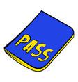 passport icon in icon cartoon vector image
