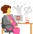 pregnant woman office stress vector image