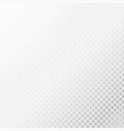 silver halftone background vector image