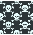 Simple seamless pattern with human skulls vector image