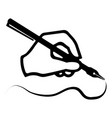 the quill in his hand vector image
