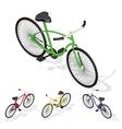 Isometric retro bicycle vector image