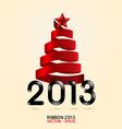 2013 ribbon abstract xmas tree vector image vector image
