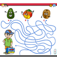 path maze activity for children vector image