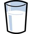 Glass of milk vector image