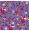 christmas sketch wallpaper vector image vector image