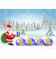 christmas card 2018 vector image