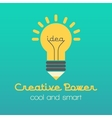 Creative idea with lamp and vector image