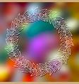 floral frame on a blurred background vector image