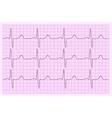 Heart analysis electrocardiogram graph ECG vector image