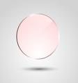 Orange transparent glass circle banner vector image