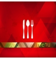 restaurant menu design with spoon fork and knife vector image