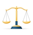 Realistic Justice Scales Law Balance Symbol vector image