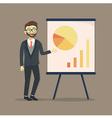 Businessman Presentation Chart vector image