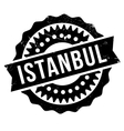 Istanbul stamp rubber grunge vector image