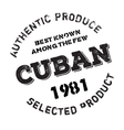 Authentic cuban product stamp vector image