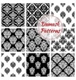 Old damask or damasque seamless pattern background vector image