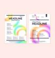 brochure template for business modern journal vector image
