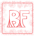 BF monogram vector image