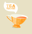 Cartoon teacup vector image