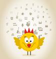 Chicken art vector image