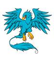 blue phoenix vector image vector image