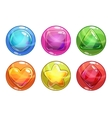 Cartoon colorful bubbles with different shapes vector image