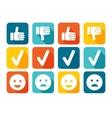 Like and Dislike Icon Set vector image