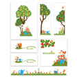 Apple trees and flowers in the garden vector image vector image