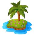 a tropical island vector image