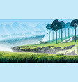 background of a mountain landscape vector image