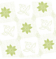 cute flowers pattern background vector image
