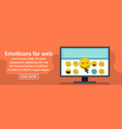 emoticons for web banner horizontal concept vector image