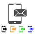 mobile mail icon vector image