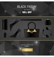 Abstract 2016 Black Friday layout vector image