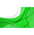 Abstract background with green lines vector image