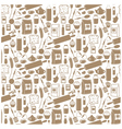Seamless products pattern vector image