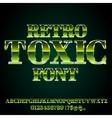 Toxic Green Font vector image