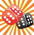 Dice lucky casino gambling game win success vector image