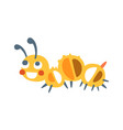 cute cartoon caterpillar colorful character vector image vector image