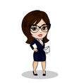 businesswoman with mail vector image