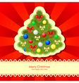 christmas backgr fir vector image