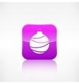 Christmas ball icon Application button vector image