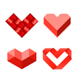 Heart shaped symbols vector image vector image