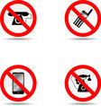 Ban phone set vector image