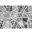 black and white abstraction vector image