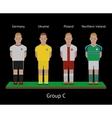 Football players Soccer teams Germany Ukraine vector image