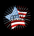 Independence Day of America Emblem Star and flag vector image