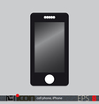 Cell Phone Icon vector image