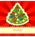 christmas backgr fir vector image